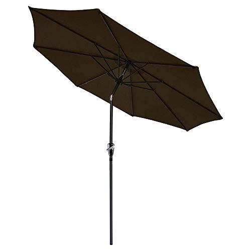 Chi Mercantile 9 Outdoor Patio Furniture Umbrella Tilt System Espresso