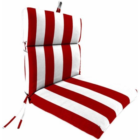 Jordan Manufacturing Outdoor Patio Chair Cushion  44W x 22D x 4H  Spun Polyester Fabric And Fiber Fill  Easy To Maintain