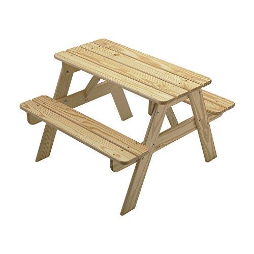 Little Colorado Kids Picnic Table Wooden Picnic Table Portable Picnic Table Sanded  Unfinished