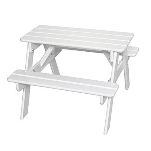 Little Colorado Kids Picnic Table Wooden Picnic Table Portable Picnic Table White