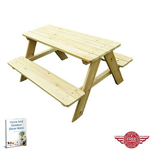Picnic Tableoutdoor Indoor Lawn Garden Yard Kids Roomportable Wooden Furniturepicnic Dinner Party Lounge Kit