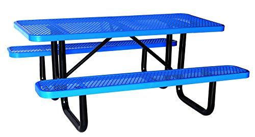 Lifeyard Heavy Duty Metal Picnic Table Rectangular 72 inchBlue