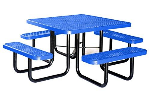 Lifeyard Heavy Duty Metal Picnic Table Square 46inchblue