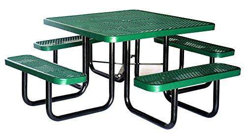 Lifeyard Heavy Duty Metal Picnic Table Square 46inchgreen