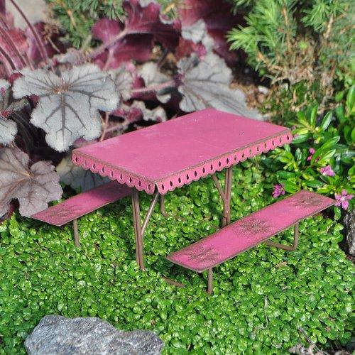 Miniature Fairy Garden Picnic Table Metal