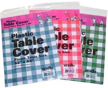 Plastic Table Cover 52x84 1 Pc Random Picnic Table Size