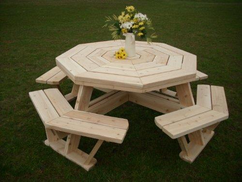 White Cedar Octagon Walk- In Picnic Table