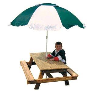 Gorilla Playsets Kids Picnic Table and Umbrella