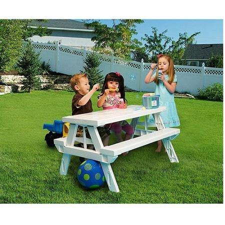 Plastic Kids Rectangular Picnic Table For Children Ages 2-8
