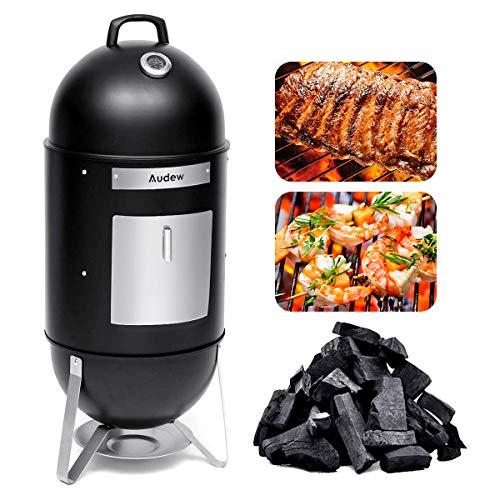 Audew Smoker Grill Combo 18 Heat Control 2 Cooking RacksCharcoal Smoked Turkey Grill BBQ Outdoor Picnic Camping