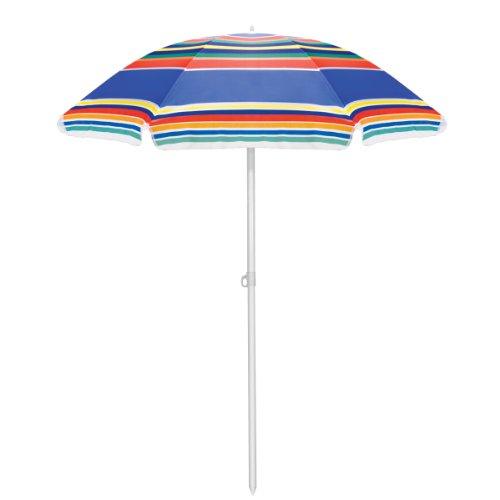 Picnic Time Outdoor Umbrella Multi-color Stripe