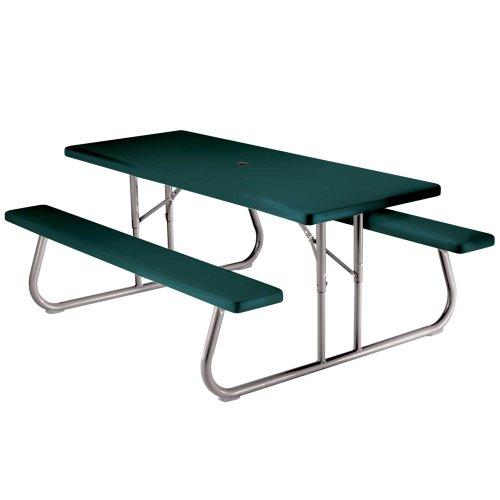 Lifetime 22123 Folding Picnic Table 6 Feet Hunter Green