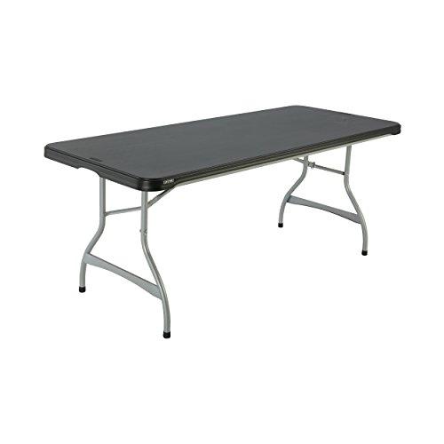 Lifetime 480350 Commercial Rectangular Folding Table 4 Pack 6 Black