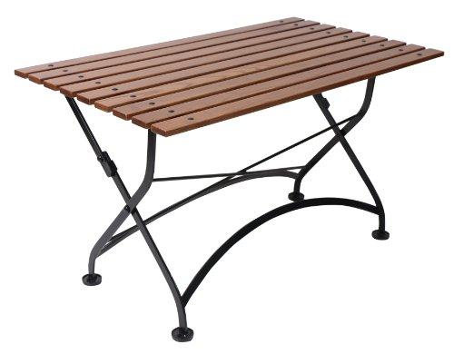 Furniture Designhouse French Caf&eacute Bistro Folding Coffee Tablebench Jet Black Frame European Chestnut Wood Slat