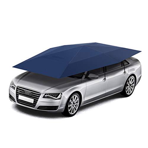 Four-Season Universal Semi-Automatic Car Tent Cover Carport FoldedCar Umbrella Tent Car Sunshade with Anti-UVWater-ProofProof WindSnowStormHail 1345X738 ft 41M Manual