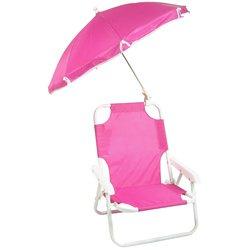 Redmon Beach Baby Umbrella Chair Hot Pink
