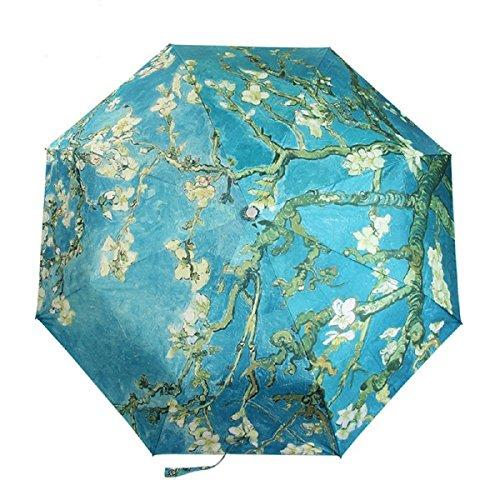 Uv Umbrella Sun Protectionportablefun Folding Ultralight Sun Umbrella Uv Blockerrain Umbrellavan Gogh Masterpiece