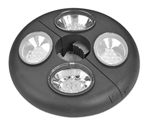 Modern Home UMBLIGHT 28 LED Umbrella Clamp Light Black