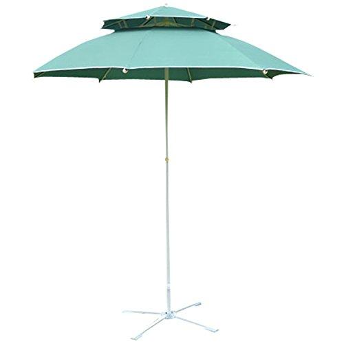 La-Meric Camping Outdoor Garden Sunshade Umbrella Beach Shade Shelter Red