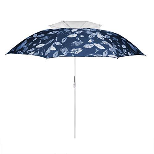 CUIS- 2022 M Double-Layer Universal Umbrella Leaf Sunscreen Umbrella Three-Speed Automatic Open Umbrella for Fishing Beach Wild Color  Blue Silver Glue Size  D20M