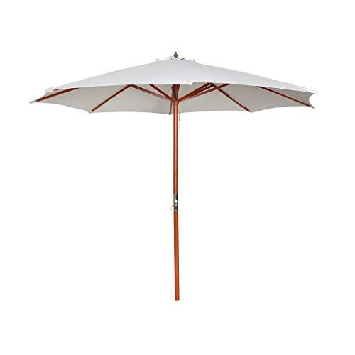 Unfade Memory Parasol Sunshade Beach Umbrellas Sport Umbrella for Shade 1181x1016 White
