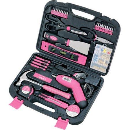 Apollo Tools Precision 135pc Household Tool Set Pink