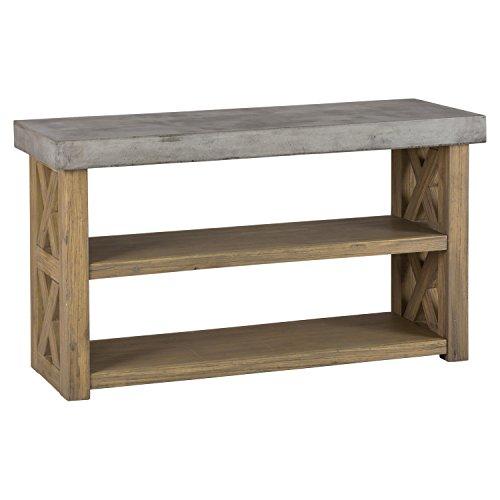 DCG Stores Boulder Ridge Server - Concrete Top 2-Shelf
