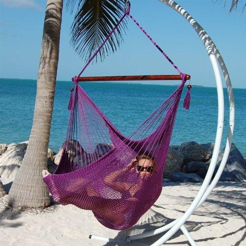 Caribbean Jumbo Hammock Chair By Beachside Hammocks - Purple