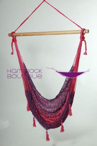 Savannah PINK PURPLE Chair Hammock COTTON Thick Cord woven LARGE