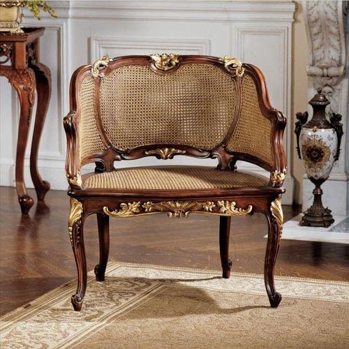 Design Toscano Louis Xv French Rattan Chair