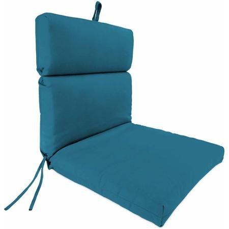 French Edge Cartridge Chair Cushion Fresco Peacock