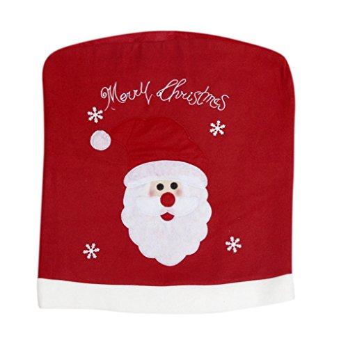 Chair Coversleegor Christmas Santa Claus Chair Back Cover Snowman Hat Dinner Table Party Decor a