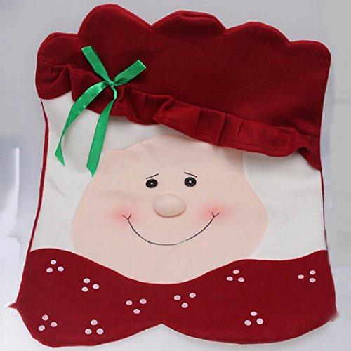 Chair Coversleegor New Creative Santa Cute Chair Back Set&ampcovers Dinner Decor Christmas Mrs