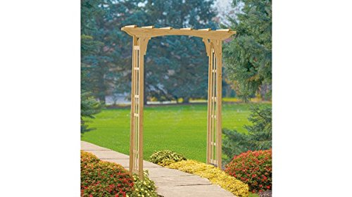 Premium Cedar Arbor for Garden with Wooden Arch and Trellis