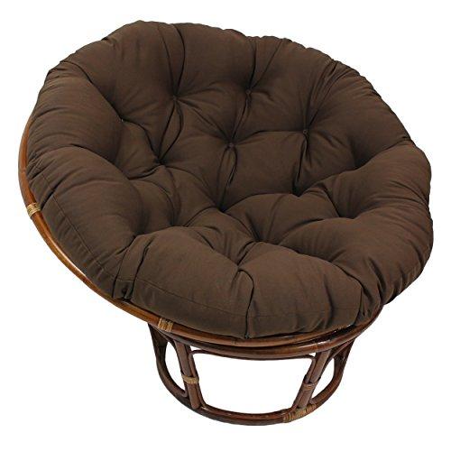 Blazing Needles Solid Twill Papasan Chair Cushion 48 x 6 x 48 Chocolate