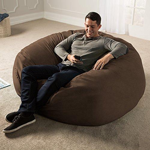 Jaxx 5 Foot Saxx - Big Bean Bag Chair for Adults Chocolate