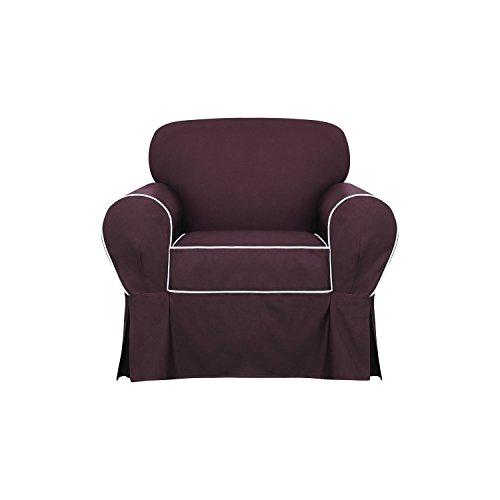 SureFit Monaco - Chair Slipcover - Chocolate