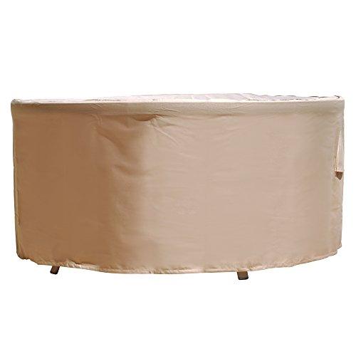 Budge Chelsea Round Patio Table Cover Medium tan