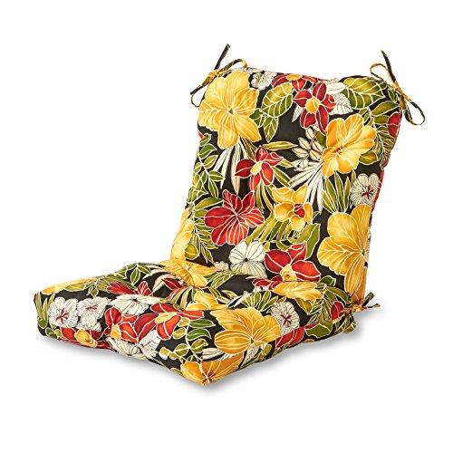 Greendale Home Fashions IndoorOutdoor SeatBack Chair Cushion Aloha Black