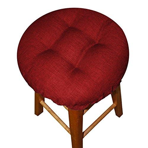 Bar Stool Cover - Rave Scarlet Red - Indoor  Outdoor Bar Stool Cushion - Latex Foam Bar Stool Cushion With Adjustable