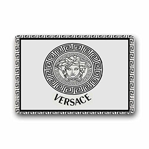 Custom Retro Versace Machine Washable Top Fabric Non-slip Rubber Indoor Outdoor Home Office Bathroom Doormat Size
