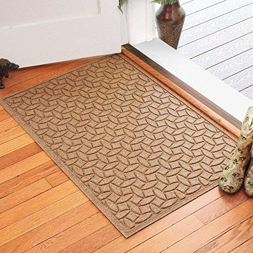 Ellipse Entryway Mat with Non Slip Rubber Backing - Front Door Mat - Outdoor Indoor Entrance Doormat Rug - Made in USA Camel