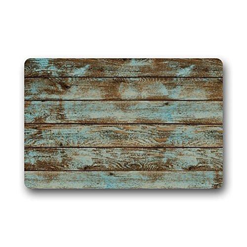 Homie Design Rustic Old Barn Wood S Living Room Washable Doormat Door With Anti Slip Backing Non Slip Rubber Kitchen Rugs 236 X 157 Inch IndoorOutdoors