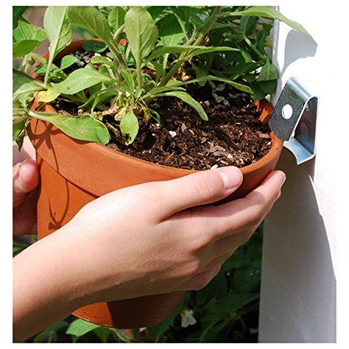 Flower Pot Clips Strongest Most Durable Hard Steel 5 Pack Flower Pot Holder