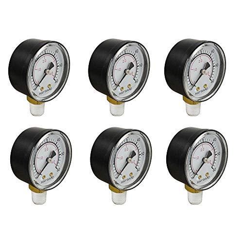 Hayward ECX270861 Swimming Pool Pressure Gauge Replacement Pro Series 6 Pack