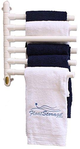 Floatstorage Fstow6w Original Hanging 6 Towel Rack White
