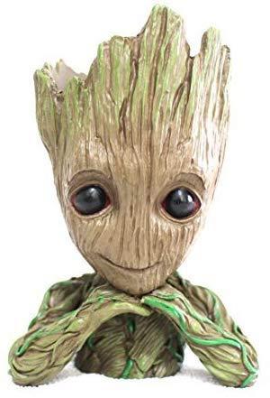 Lucklook Groot Flowerpot Treeman Baby Groot Action Figures - Guardians of The Galaxy Flowerpot Baby Cute Model Toy Planter Pen Pot
