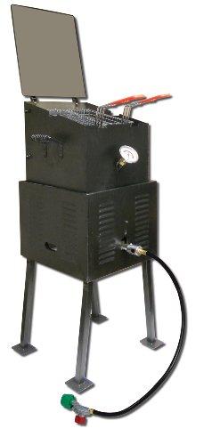 King Kooker 2290 Deluxe Multi-purpose Outdoor Cooker Package With Black Steel V-bottom Pot