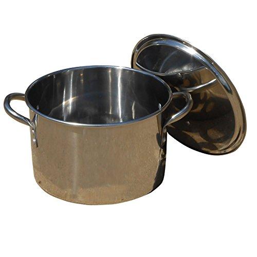 King Kooker KK116S Stainless Steel Boiling Pot with Lid 16-Quart