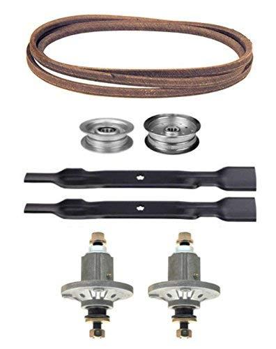 John Deere 100 Series 42 Mower Deck Parts Rebuild Kit Spindles Assemblies Blades Idler Pulleys Belt